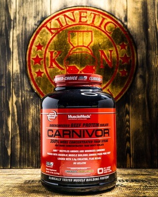 Musclemeds, Carnivore, Beef Protein, 4.2Lb, Choco Peanut Butter