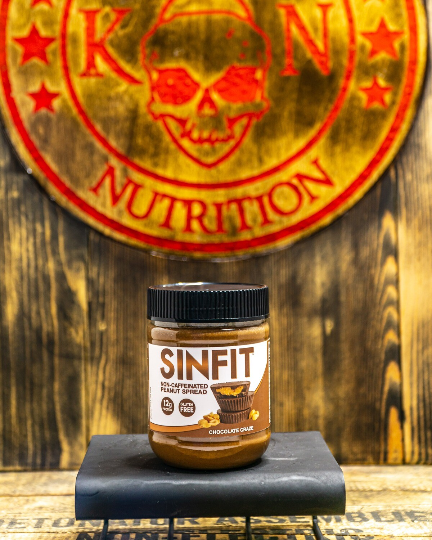 SINFIT, Protein Infused Caffeinated Peanut Spread, 12Oz, Chocolate Craze