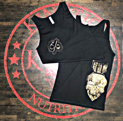 Bomb & Skull, Copper SAVAGE DAILY Black Tank