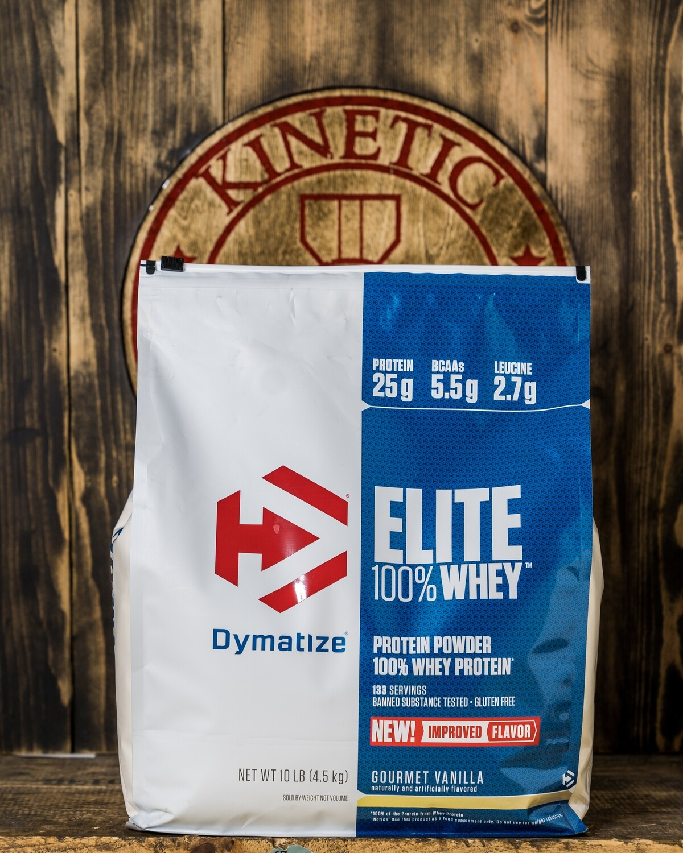 Dymatize, Elite Whey Protein,  126 Servings, 10lb , Gourmet Vanilla
