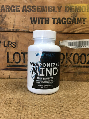 Weaponize Nutrition, Weaponized Mind, 90caps