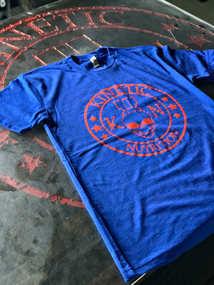 Kinetic Nutrition, Red On Blue, Unisex Tee