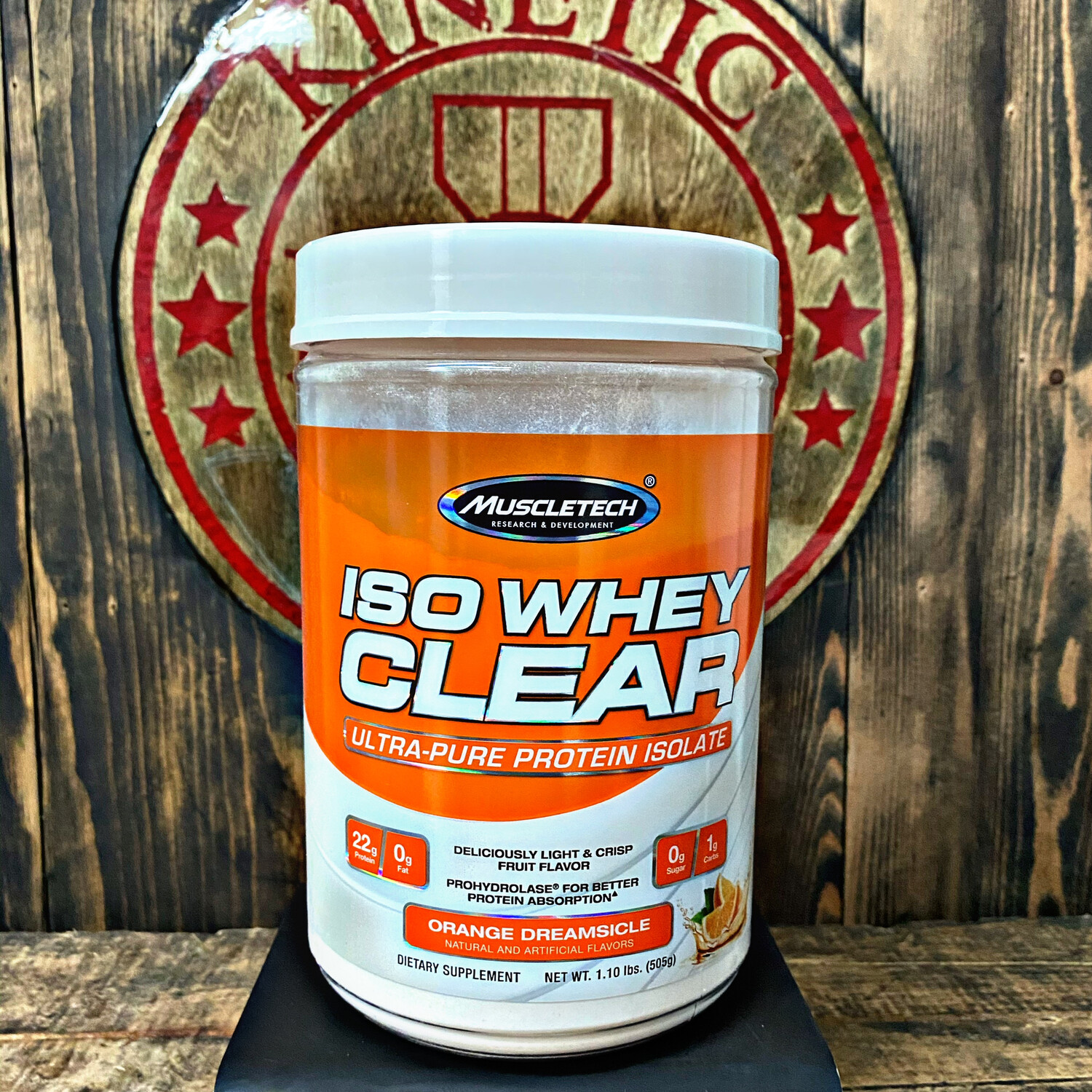 Muscletech, Iso Whey Clear Protein, 19 Servings, Orange Dreamsicle