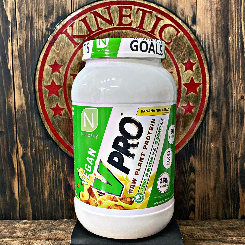 Nutrakey, Vpro Raw Plant Protein, Banana Nut Protein