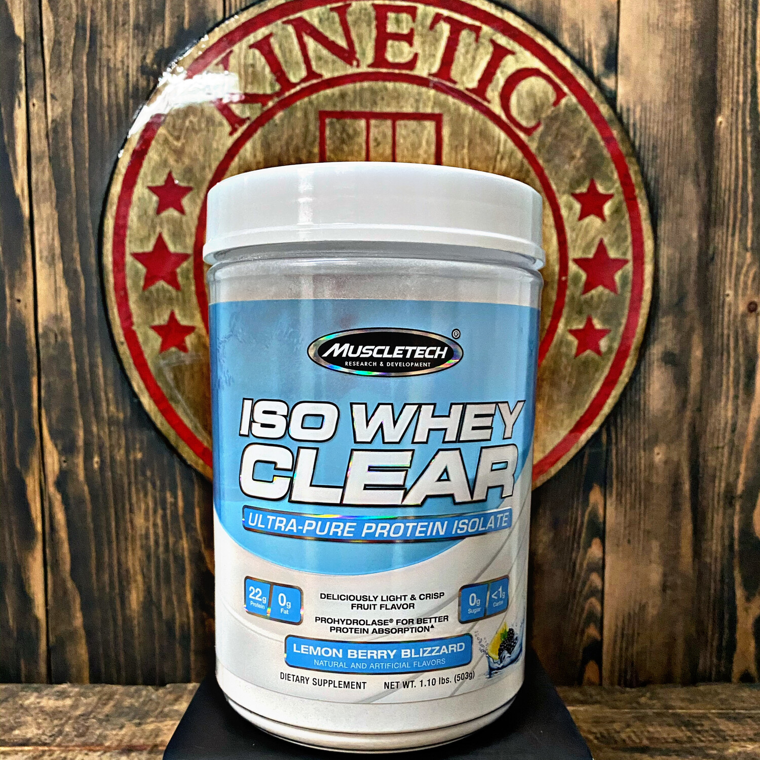 Muscletech, Iso Whey Clear Protein, 19 Servings, Lemon Berry Blizzard