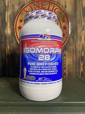 Aps, Isomorph, 28 Pure Whey Isolate, 27 Servings, 2Lb, Del Strawberry Milkshake