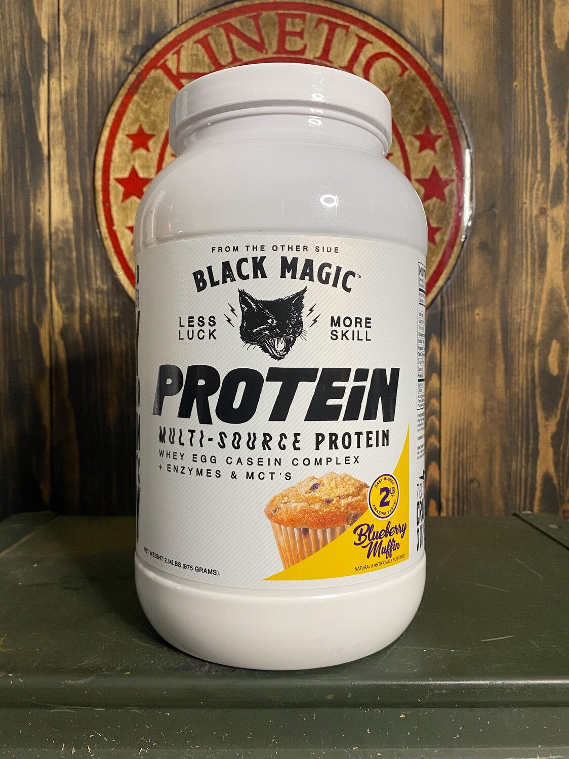 Black Magic, Multi-Source Protein, 25 Servings, 2Lb, Blueberry Muffin