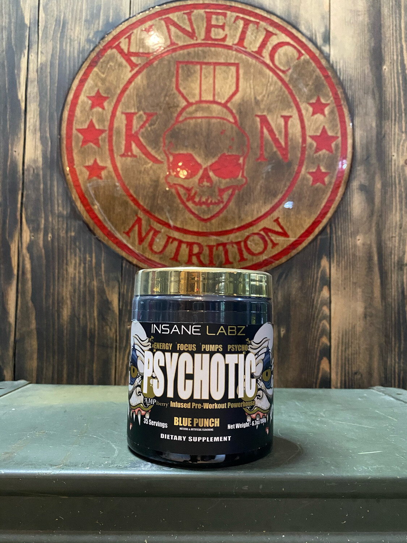 Insane Labz, Psychotic Gold, 35 Servings, Blue Punch