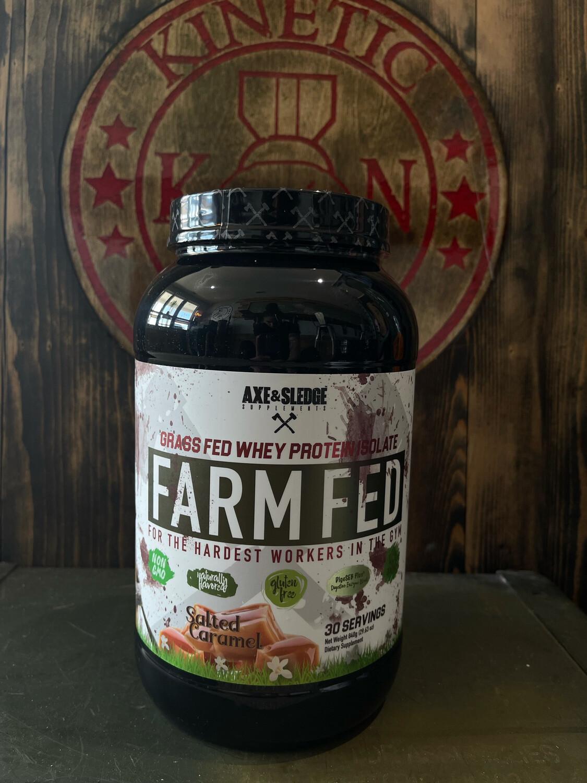 Axe & Sledge, Farm Fed Whey Protein, Salted Caramel, 30 Servings