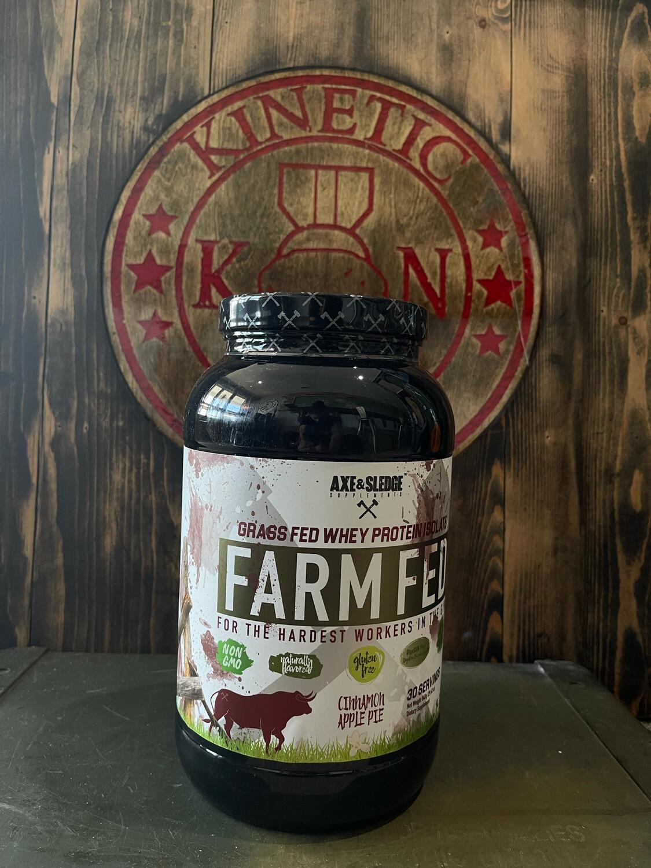 Axe & Sledge, Farm Fed Whey Protein, Cinnamon Apple Pie, 30 Servings