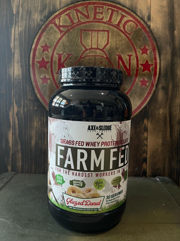 Axe & Sledge, Farm Fed Whey Protein, Glazed Donut, 30 Servings