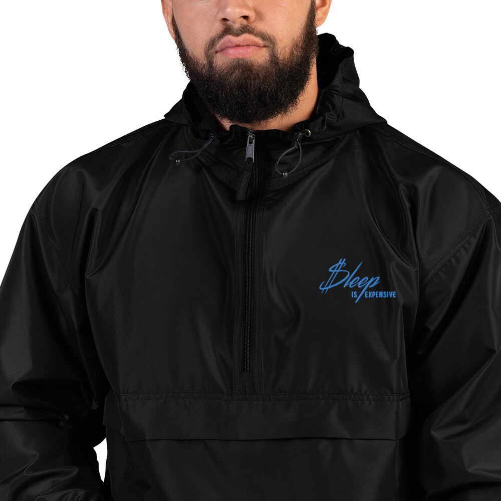 Sleep Is Expensive v2 - Embroidered Champion Packable Jacket