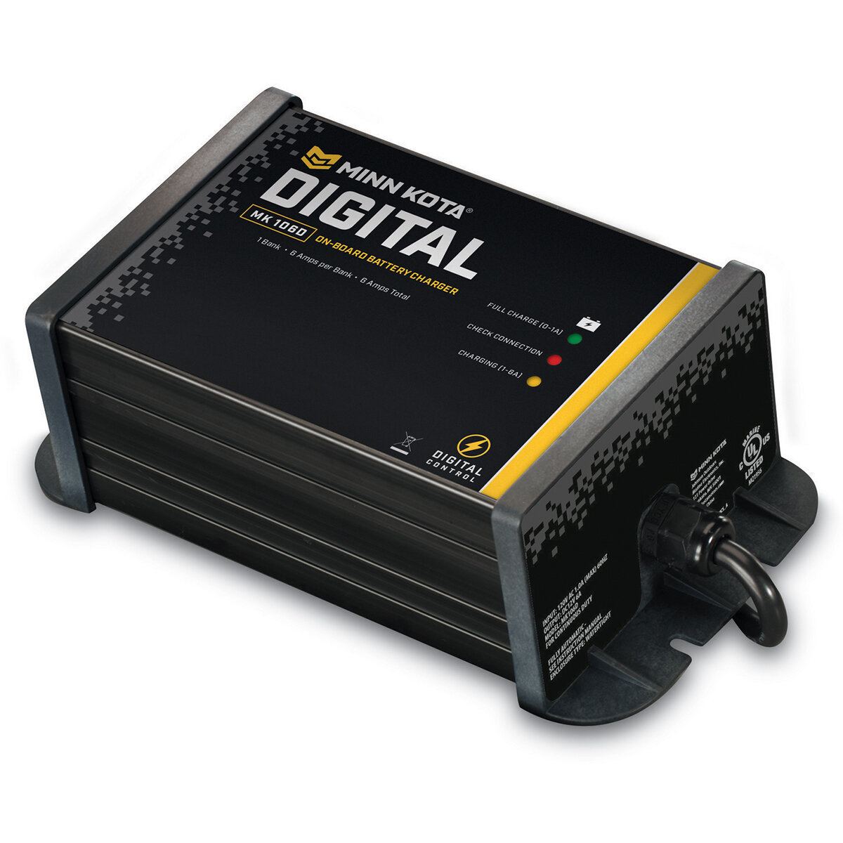 Minn Kota Single Bank AC Charger With Power Port