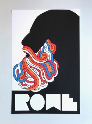 "Beard Poster: 11"" x 17"""