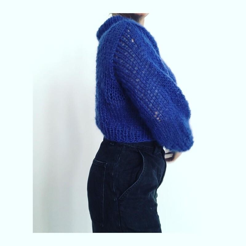 Blue Mohair Sweater