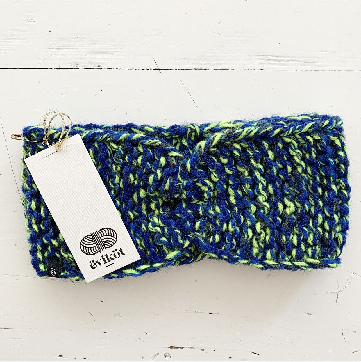 Blue and Green Headband