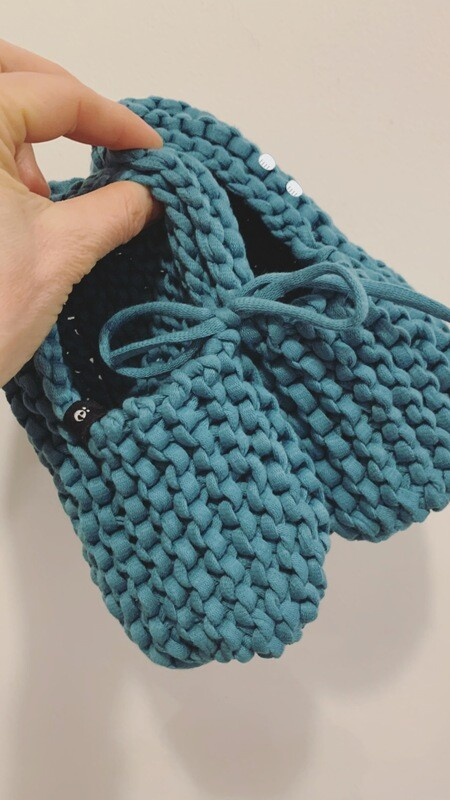 Steel Blue Slippers