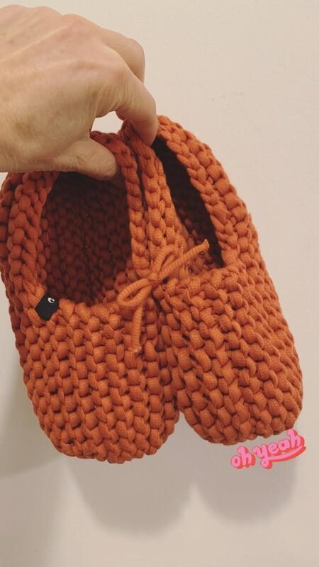 Salmon Orange Slippers