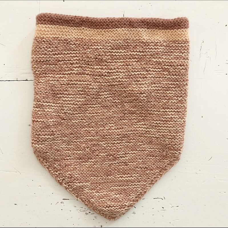Brown Triangle Shawl
