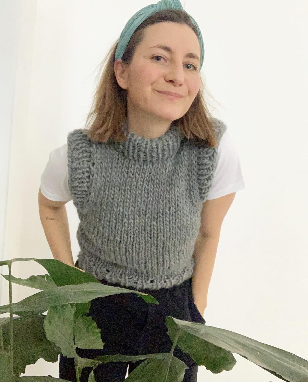 Grey Wool Vest