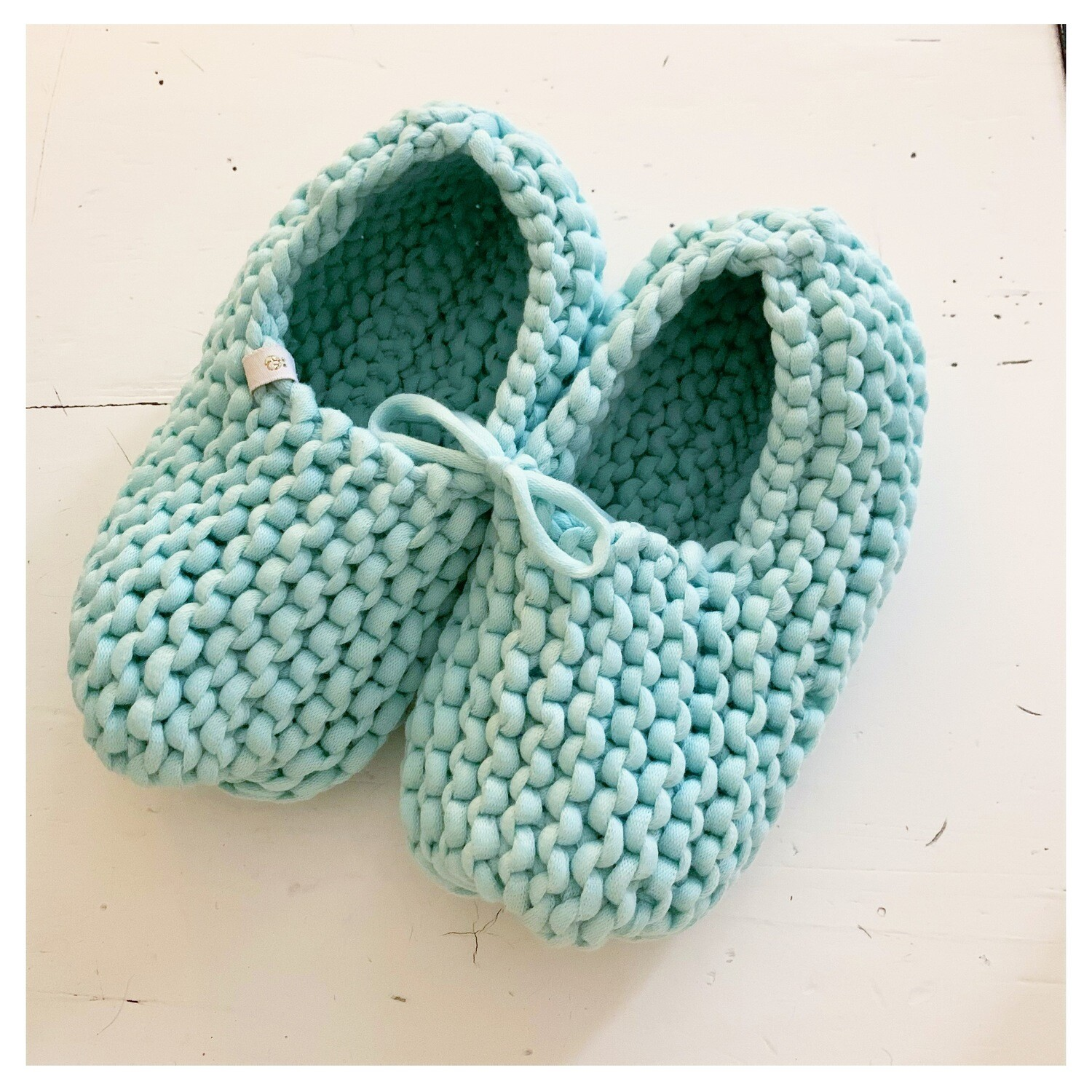 Light Blue Slippers