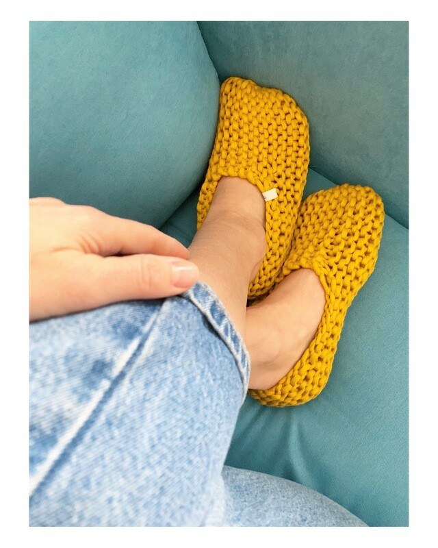 Mustard Yellow Slippers