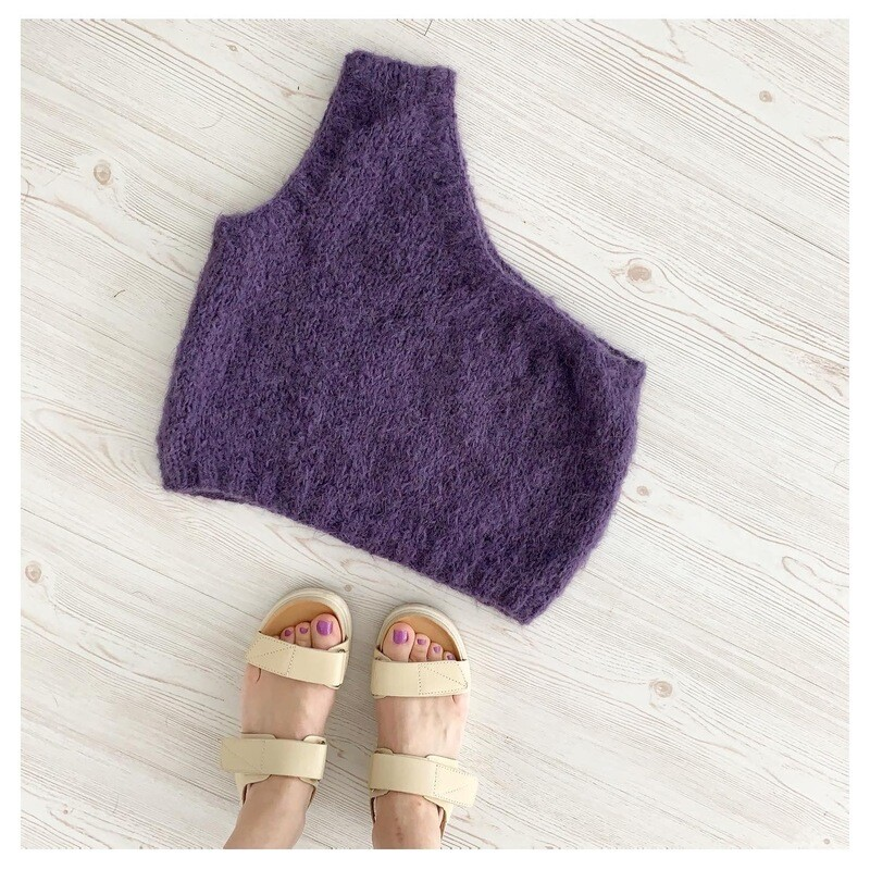 Purple Alpacca and Silk Top