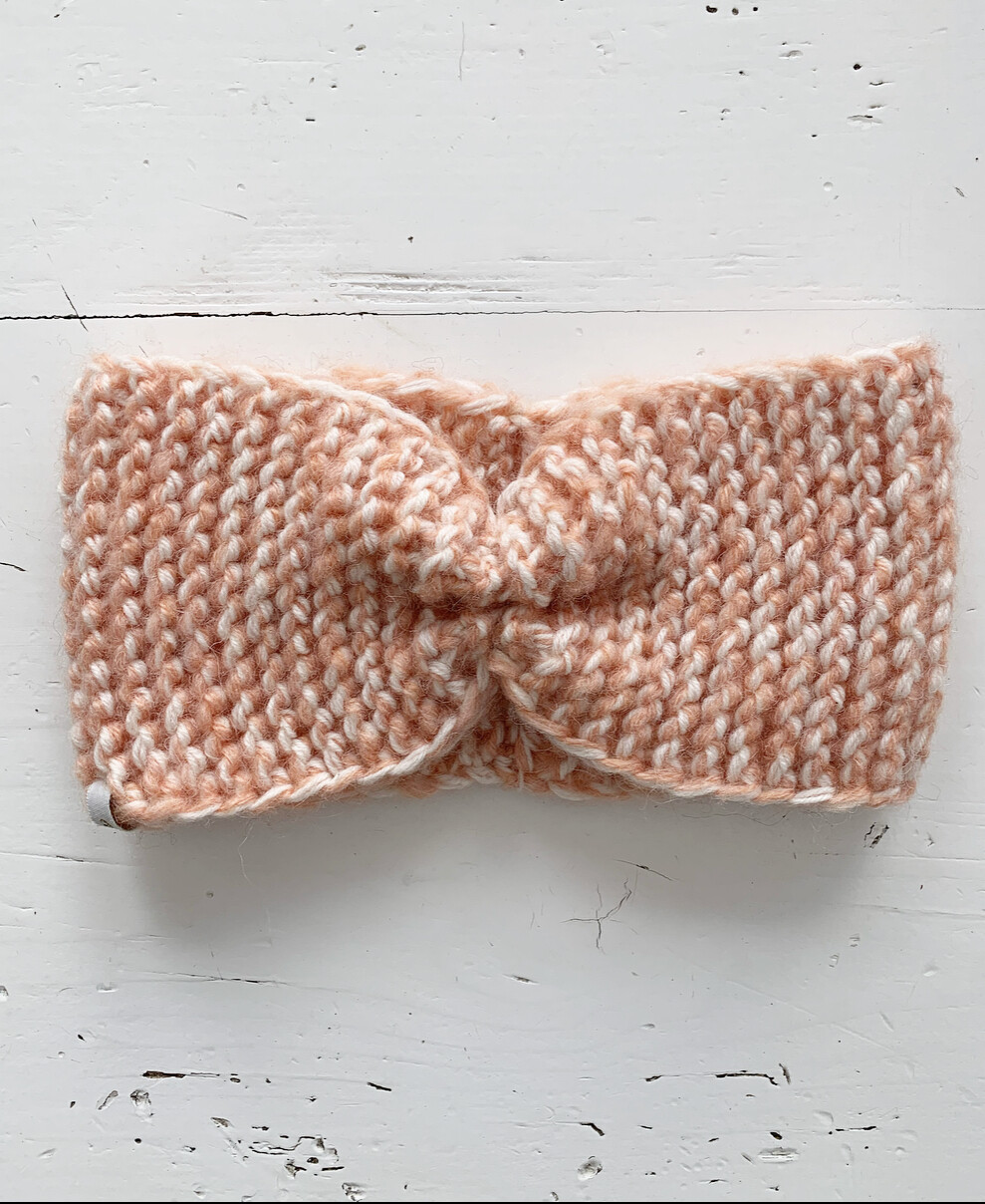 White and Pink Headband