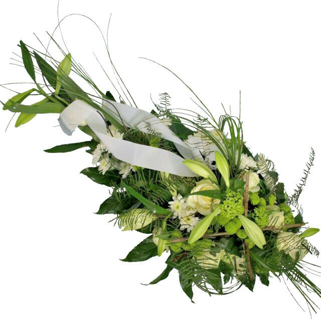 Biela smútočná kytica