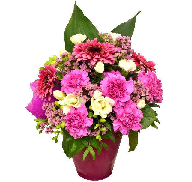 Ružovo fialový aranžmán