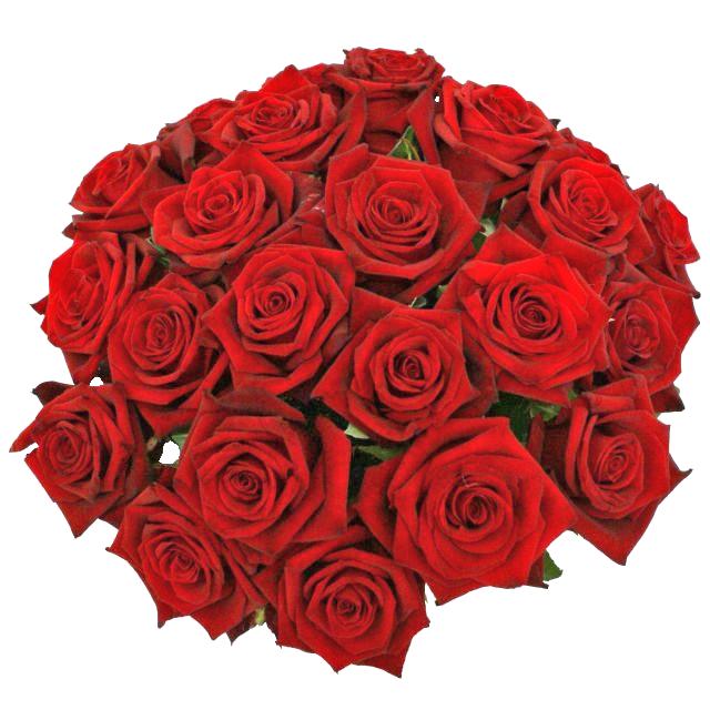 Červené ruže v kytici
