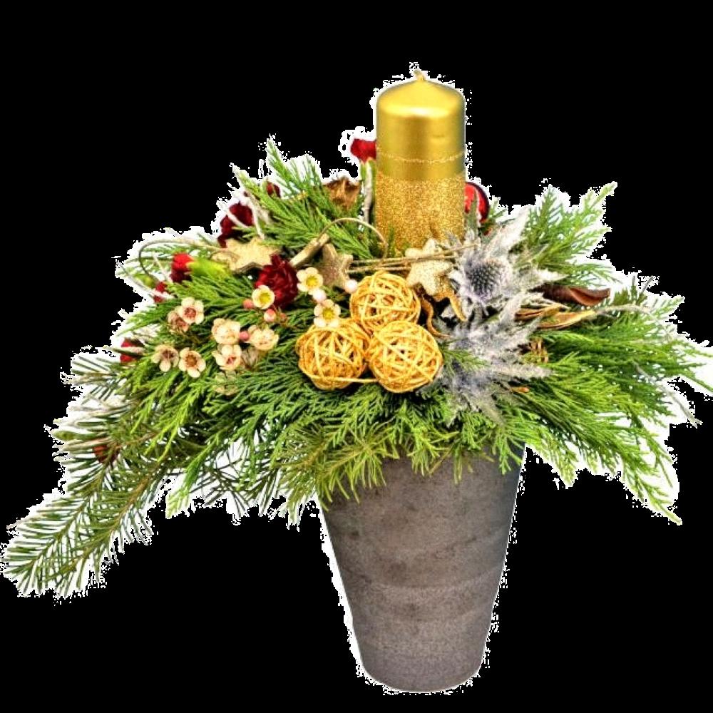 Zlatý vianočný aranžmán
