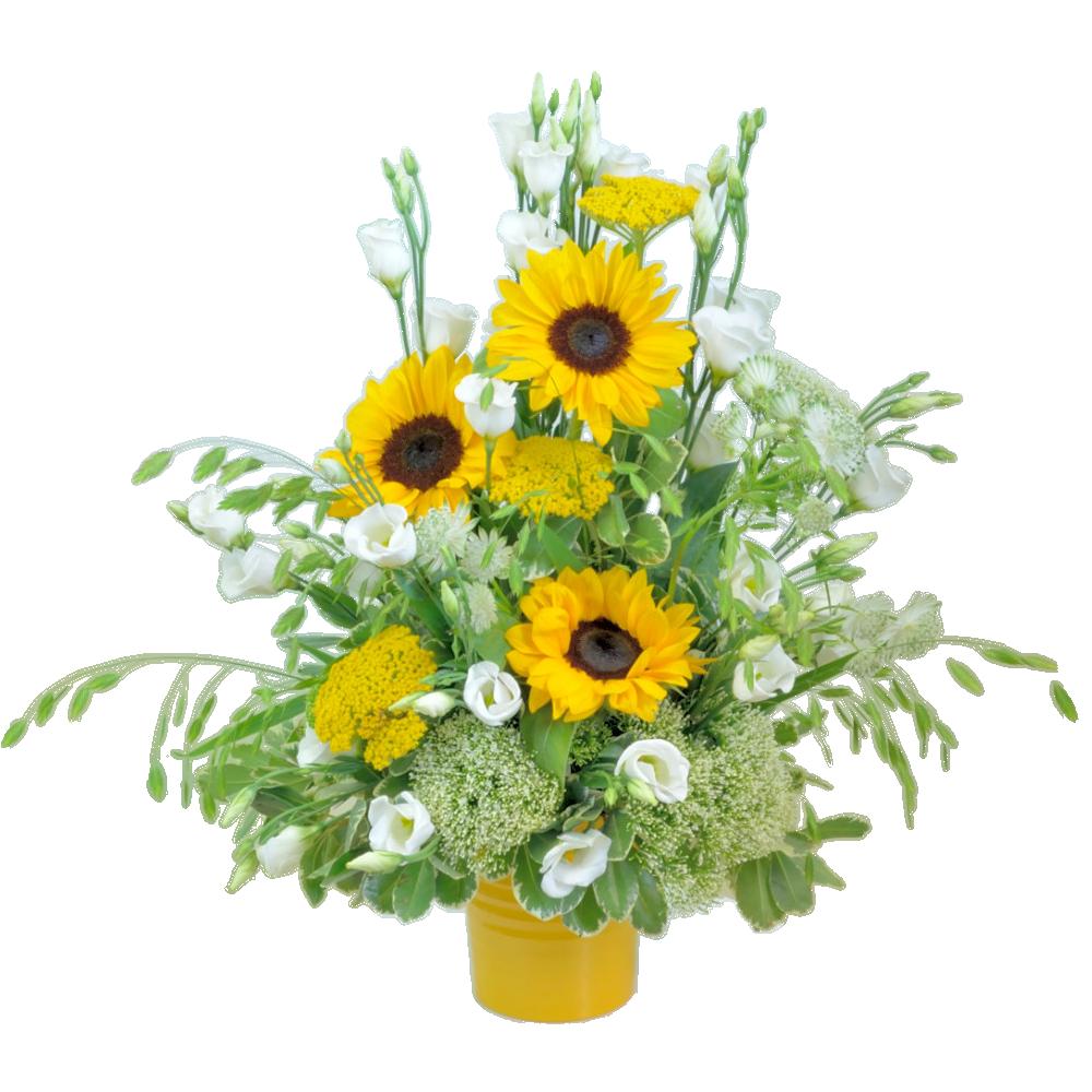 Zlatožltá kytica zo slnečníc
