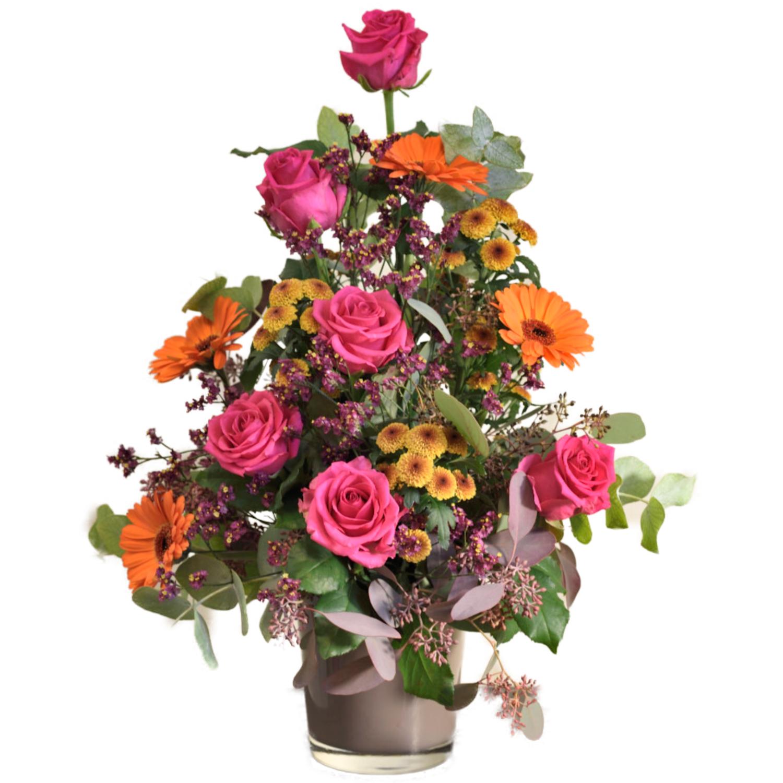 Ružová kytica s farbami