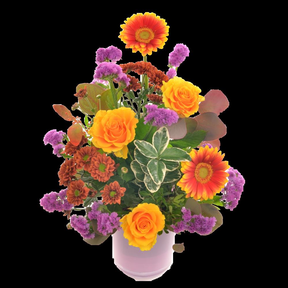 Fialovo-oranžová kytica
