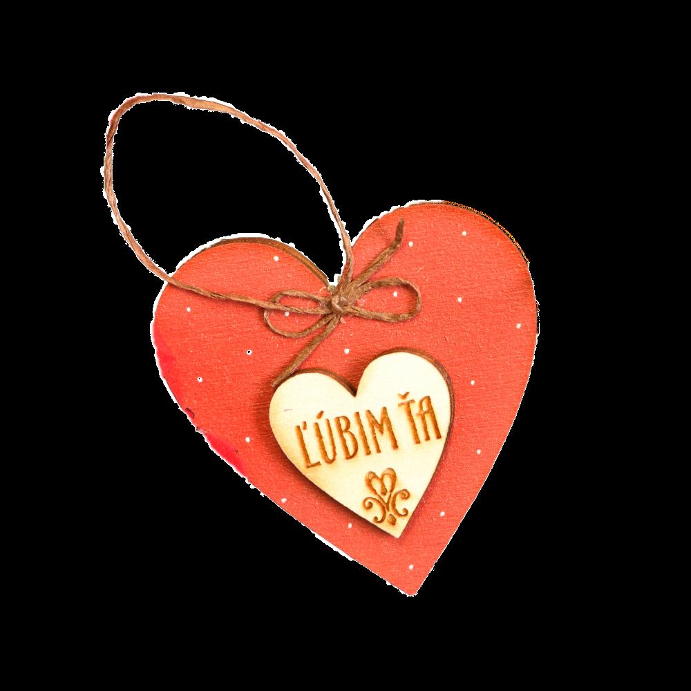 Valentínske srdiečko Ľúbim Ťa