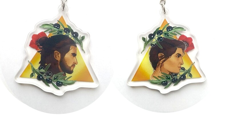 Assassin's creed Odyssey double sided keychain (clearance)
