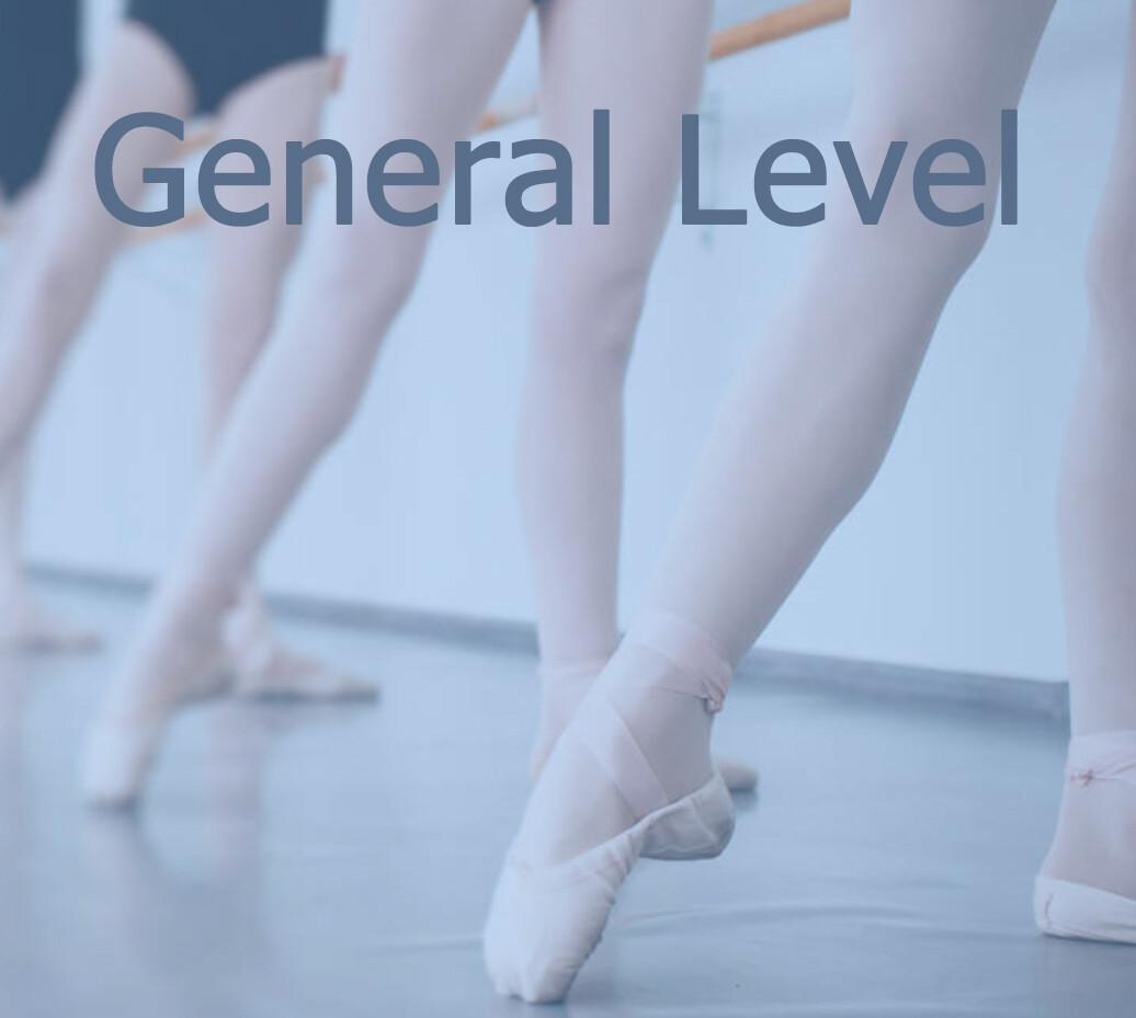 Book GENERAL LEVEL (19.45 - 21.00)