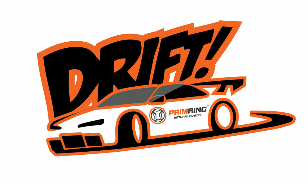 """Цветная наклейка """"Drift"""""""