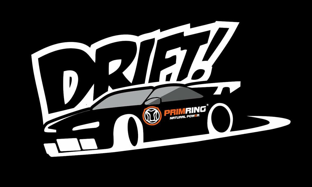"""Черная наклейка """"Drift"""""""