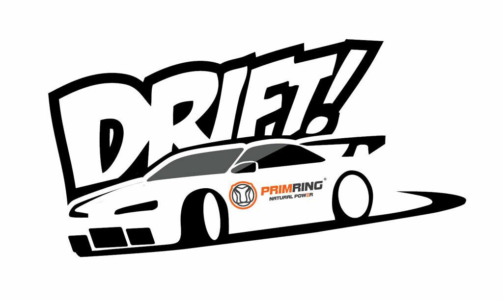 """Белая наклейка """"Drift"""""""