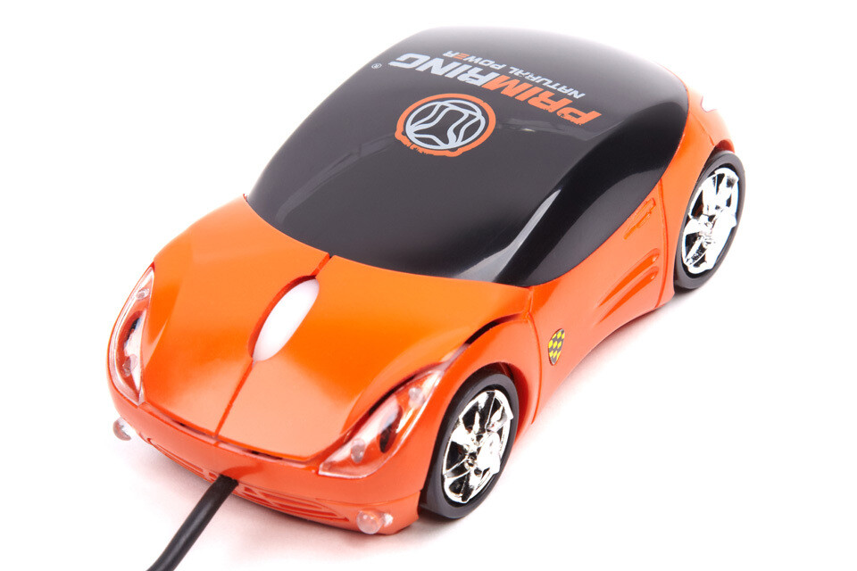 Компьютерная мышь USB (оранжевая)