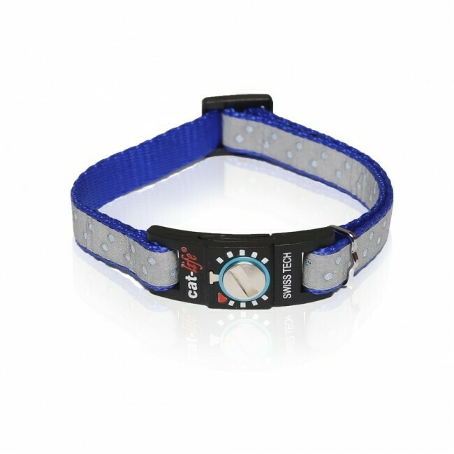 Cat-life Katzenhalsband reflektierend Diamant blau