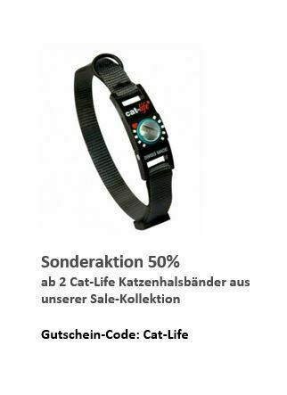 cat-life Katzenhalsband Schwarz, Verschluss 2 - 4 kg