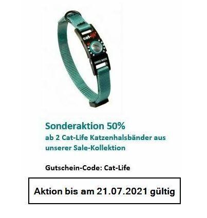 cat-life Katzenhalsband Petrol, Verschluss 2 - 4 kg