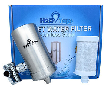 Tap Water Filter + 1 Cartridge. H2O Taps