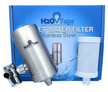 Filtro de Agua para Grifo + 1 Cartucho. H2O Taps