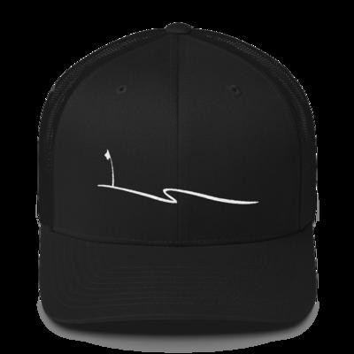 JKD Swoosh - Trucker Hat (White on Black)