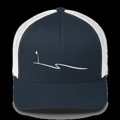 JKD Swoosh - Trucker Hat (White / Navy)