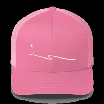 JKD Swoosh - Trucker Hat (White on Pink)